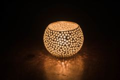 Festival of lights candle light diwali tealight holder royalty free stock photography