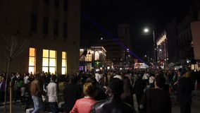Festival of lights - crowd stock video footage
