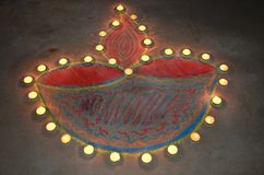 Festival of lights. Diwali celebration in India Stock Photography