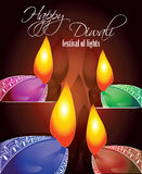 Festival of lights- Diwali. Diwali - a Festival of joy and celebrations.happy Diwali to all Stock Photography