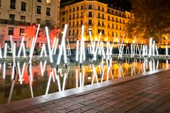 Festival of lights in Lyon Stock Images