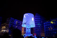 Festival of lights in Lyon Royalty Free Stock Images