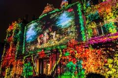 Festival of lights in Lyon Stock Photos