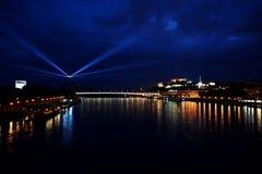 Festival of lights 2016. White night in Bratislava. Festival of lights, festival of arts Stock Photos