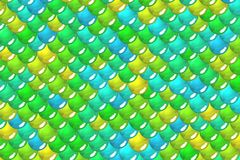 Festival lime scales and bubbles geometrical wallpaper Stock Photos
