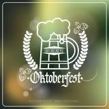 Festival Logo Holiday Decoration Poster Design de la cerveza de Oktoberfest Imágenes de archivo libres de regalías