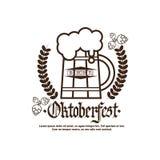 Festival Logo Holiday Decoration Posters Design de bière d'Oktoberfest Photos stock