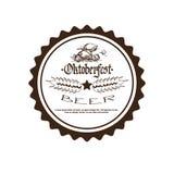 Festival Logo Holiday Decoration Posters Design de bière d'Oktoberfest Photos libres de droits
