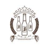 Festival Logo Holiday Decoration Posters Design de la cerveza de Oktoberfest Fotografía de archivo libre de regalías