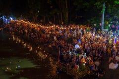 Festival Loi Krathong in Chiang Mai Lizenzfreies Stockbild