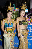 Festival Loy Krathong da água foto de stock royalty free