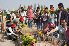 Festival Loy Krathong da água foto de stock