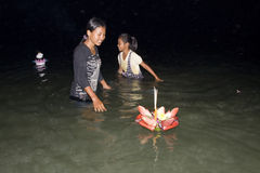 Festival Loy Krathong del agua Imagen de archivo