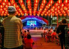 Festival lunare, festival del Mooncake con le lanterne Fotografie Stock Libere da Diritti