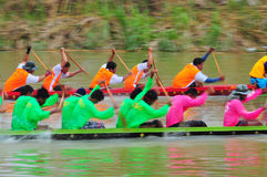 Festival lungo tradizionale di corsa di barca di Langsuan, Tailandia Immagini Stock Libere da Diritti