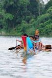 Festival lungo tradizionale di corsa di barca di Langsuan, Tailandia Fotografia Stock Libera da Diritti