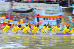 Festival lungo tradizionale di corsa di barca di Langsuan, Tailandia Fotografie Stock