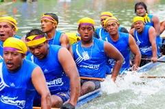 Festival lungo tradizionale di corsa di barca di Langsuan, Tailandia Immagine Stock