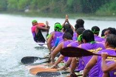 Festival lungo tradizionale di corsa di barca di Langsuan, Tailandia Fotografie Stock Libere da Diritti