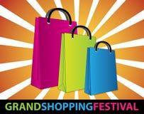 Festival magnífico de las compras Foto de archivo libre de regalías
