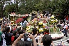 Festival magnífico del flotador de la flor Fotografía de archivo