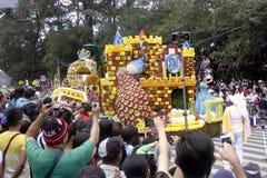 Festival magnífico del flotador de la flor Imagen de archivo