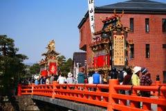 Festival majestueux de flotteurs et de marionnettes de Takayama Image libre de droits