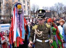 Festival Malanka Fest_2 de la Navidad Fotografía de archivo libre de regalías