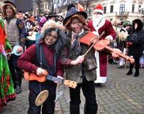 Festival Malanka Fest_4 de la Navidad Foto de archivo libre de regalías