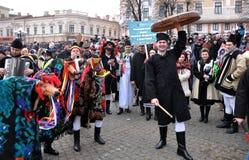 Festival Malanka Fest_18 de la Navidad Imágenes de archivo libres de regalías
