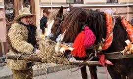 Festival Malanka Fest_25 de la Navidad Imagen de archivo libre de regalías