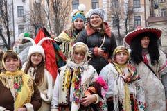 Festival Malanka Fest_33 de la Navidad Foto de archivo libre de regalías