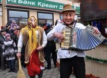 Festival Malanka Fest_47 de la Navidad Foto de archivo