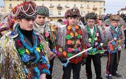 Festival Malanka Fest_51 de la Navidad Foto de archivo libre de regalías