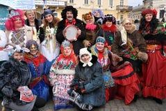 Festival Malanka Fest_6 de la Navidad Imágenes de archivo libres de regalías