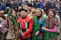 Festival Malanka Fest_15 de la Navidad Imágenes de archivo libres de regalías