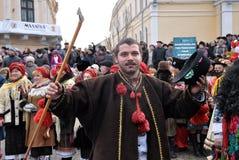 Festival Malanka Fest_17 de la Navidad Foto de archivo libre de regalías