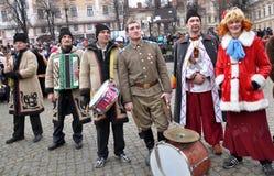 Festival Malanka Fest_34 de la Navidad Imágenes de archivo libres de regalías
