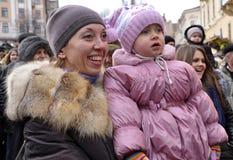 Festival Malanka Fest_32 de la Navidad Fotos de archivo libres de regalías