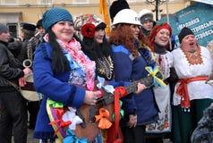 Festival Malanka Fest_7 de la Navidad Imagen de archivo libre de regalías
