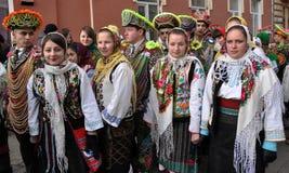 Festival Malanka Fest_23 de la Navidad Fotos de archivo