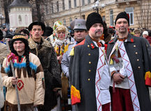 Festival Malanka Fest_9 de la Navidad Imagen de archivo libre de regalías