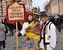 Festival Malanka Fest_24 de la Navidad Foto de archivo