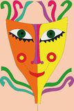 Festival mask with ribbons Royalty Free Stock Photos
