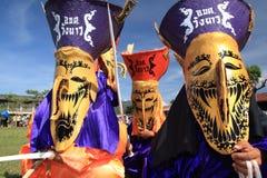 festival maskerat thai Arkivfoton