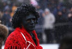 Festival of the Masquerade Games Surova in Breznik, Bulgaria. Stock Photo