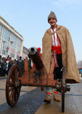 Festival of the Masquerade Games Surva in Pernik, Bulgaria Royalty Free Stock Photos