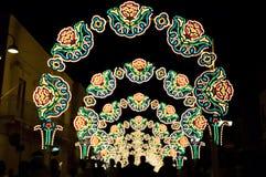 Festival med belysningar Arkivbilder