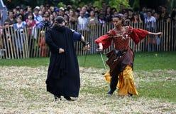 festival medeltida New York Arkivbild