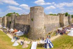Festival medieval de Provins ocorrido durante meados de junho imagem de stock royalty free